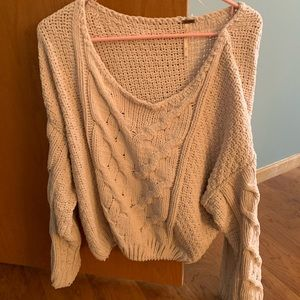 Off the shoulder free people sweater